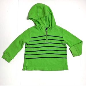 3/$13 Baby Gap Bright Green Quarter-Zip Pullover